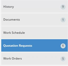 quotation request amount highlighted