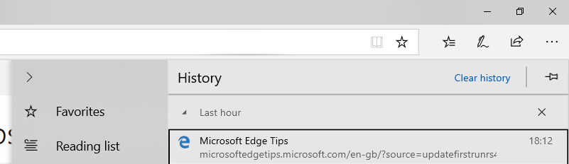 Microsoft edge reading list