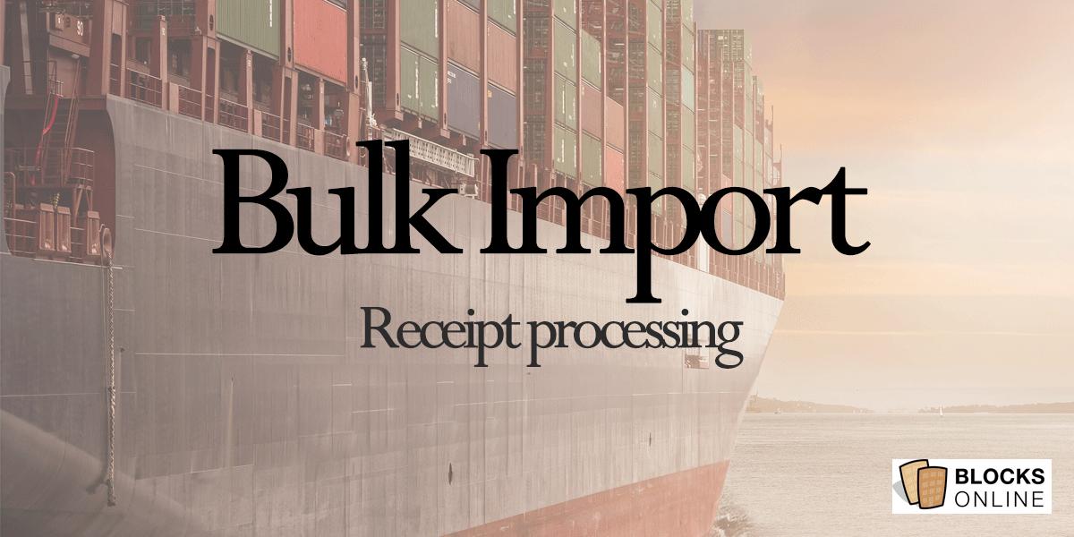Bulk Import Receipts